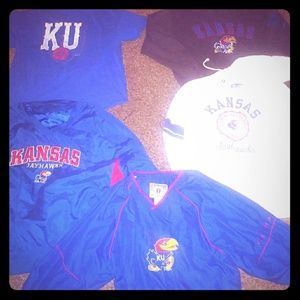 Lot of KU Gear (4 are 2x and 1 is xl)
